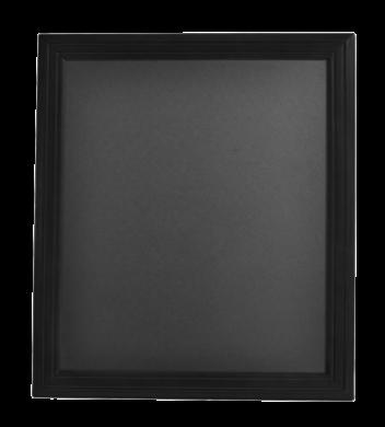 Nástěnná popisovací tabule UNIVERSAL, 40x50 cm, černá(WBU-BL-40)