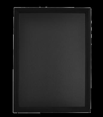 Nástěnná popisovací tabule UNIVERSAL, 60x80 cm, černá(WBU-BL-60)