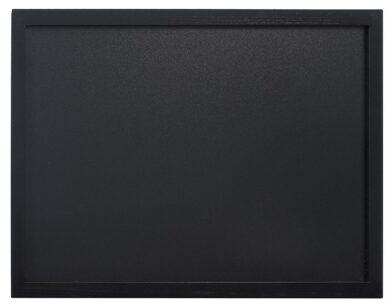 Nástěnná popisovací tabule WOODY s popisovačem, 40x60 cm, černá(WBW-BL-40-60)