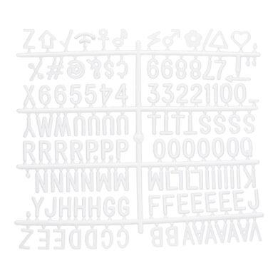 Přídavné písmena, čísla a znaky k tabulím s nasazovacímí písmeny(WLB-SET-LA)