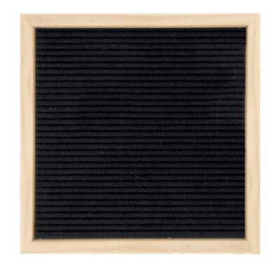 Nasouvací tabulka 30x30cm s dřevěným rámečkem a 360 plast.písmeny,čísly a symb.(WLB-TE-30-30)