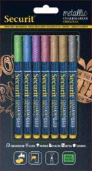 Sada 7 tenkých popisovačů 1-2 mm v blisteru, metalické barvy