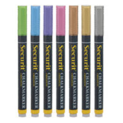 Sada 7 tenkých popisovačů 1-2 mm v blisteru, metalické barvy(BL-SMA100-V7-MT)