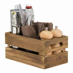 Dřevěný box pro slánky a prostírání 11,6x24x14,2 cm(CAD-VIN)