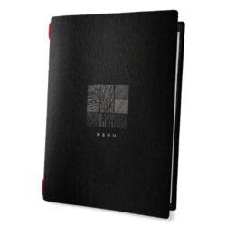 Jídelní lístek DAG Style formát A4, černá celulóza, SIGN