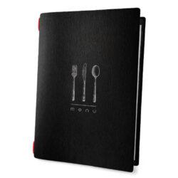 Jídelní lístek DAG Style formát A4, černá celulóza, DINNER-Jídelní lístek DAG celuloza DINNER
