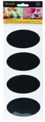 Set 8 ks samolepících fólií oválného tvaru 8,5x5 cm, k použití popisovačů(CS-OVAL-8)