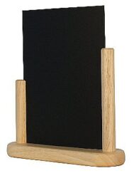 Stolní stojánek s popisovací tabulkou střední, přírodní
