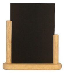Stolní stojánek s popisovací tabulkou střední, přírodní(ELE-B-ME)