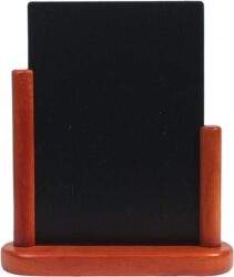 Stolní stojánek s popisovací tabulkou střední, mahagon
