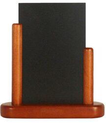 Stolní stojánek s popisovací tabulkou malý, mahagon