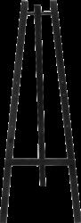 Dřevěný třínohý stojan 165 cm, černý(EZL-BL-165)