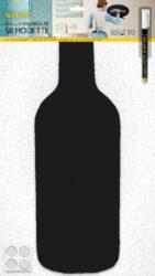 Popisovací tabule LAHEV s popisovačem a lepící páskou, černá(FB-BOTTLE)