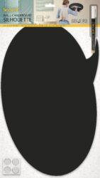 Popisovací tabule BUBLINA s popisovačem a lepící páskou, černá(FB-BUBBLE)