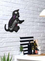 Popisovací tabule KOČKA s popisovačem a lepící páskou, černá(FB-CAT)