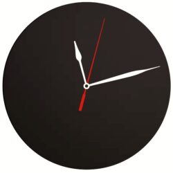 Nástěnné hodiny s popisovacím ciferníkem 29x29 cm, Black