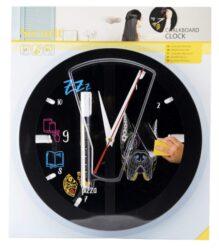 Nástěnné hodiny s popisovacím ciferníkem 29x29 cm, Black(FB-CLOCK)
