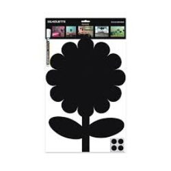 Popisovací tabule KYTKA s popisovačem a lepící páskou, černá(FB-FLOWER)