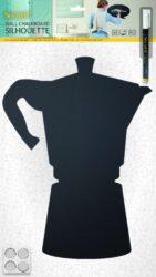 Popisovací tabule Silhouette MOKA- včetně popisovače + upevňovací pásky na stěnk(FB-MOKA)