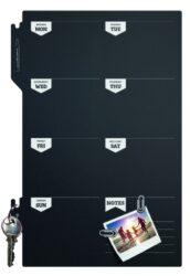 Popisovací týděnní plánovací tabule 30x45 cm s popisovačem a připevň. páskami.