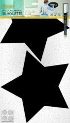 Popisovací tabule HVĚZDY s popisovačem a lepící páskou, černá(FB-STARS)