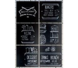 6 čtvercových popisovacích tabulí 40x40 cm bez rámečku,  Black(FB-XXL)