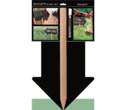Popisovací tabulka tvaru ŠIPKA s dřevěným kolíkem a popisovačem(FBS-ARROW)
