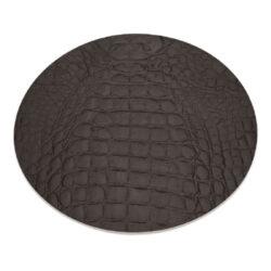 Podložky kulaté DAG Style 11 kusů, průměr 34 cm, Brown Kroko