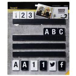 Lišta na vytváření nápisů s písmeny a čísly, 1 m. Černá