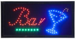 Barevná světelná LED tabule BAR s plastovým rámem, černá