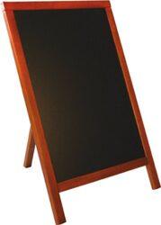 Nabídková stojanová tabule jednostranná s opěrkou 55x85 cm, mahagon(MBS-M-85)