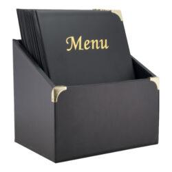 Box s 10 jídelními lístky A4,se 4 vložkami  (celkem 10 stran), nelze přidat dal
