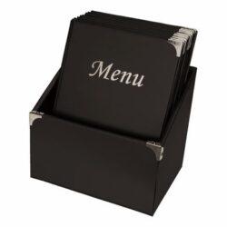 Box s 10 jídelními lístky A4,se 4 vložkami  (celkem 10 stran), nelze přidat dal(MC-BOX-BRA4-BL)