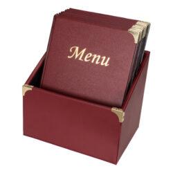 Box s 10 jídelními lístky A4,se 4 vložkami  (celkem 10 stran), nelze přidat dalu
