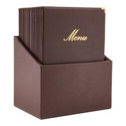 Box s jídelními lístky CLASSIC, hnědá (20 ks)