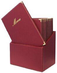 Box s jídelními lístky CLASSIC, červená (20 ks)