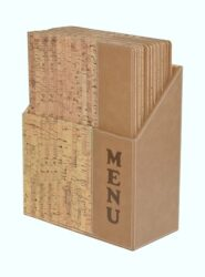 Box s jídelními lístky DESIGN, korek (10 ks)