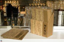 Box s jídelními lístky DESIGN, korek (10 ks)(MC-BOX-DRA4-CORK)