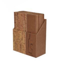 Box s vinnými lístky DESIGN, korek (10 ks)