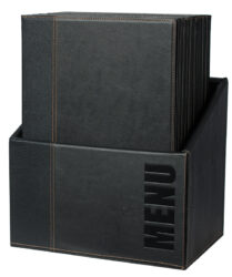 Box s jídelními lístky TRENDY, černá (20 ks)