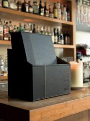 Box s jídelními lístky TRENDY, černá (20 ks)(MC-BOX-TRA4-BL)