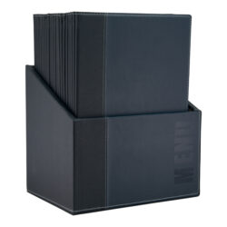 Box s jídelními lístky TRENDY,modrá (20 ks)