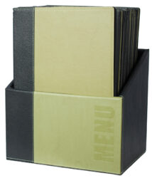 Box s jídelními lístky TRENDY,zelená (20 ks)