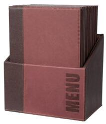 Box s jídelními lístky TRENDY, vínově červená (20 ks)