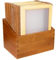 Box s jídelními lístky WOOD, slonová kost (20 ks)