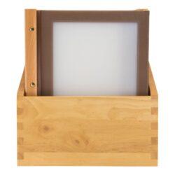 Box s jídelními lístky WOOD, hnědá (20 ks)(MC-BOX-WRA4-BR)