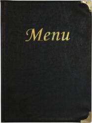 Jídelní lístek BASIC A4, černá
