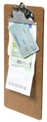 Desky na účtenku se sponou, Brown(MC-CBBP-BR)