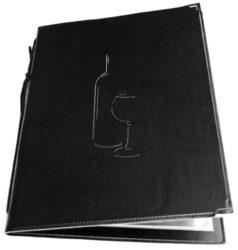 Vinný lístek CLASSIC A4, černá(MC-CRWC-BL)
