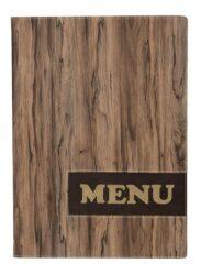 Jídelní lístek DESIGN A4, provedení dřevo
